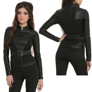 NEW Her Universe BLACK WIDOW leather jacket